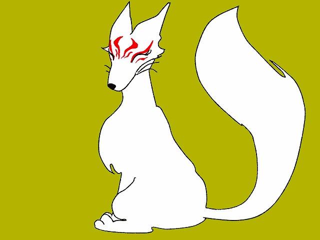 白いキツネ