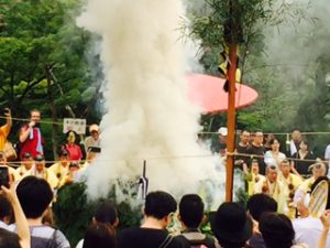 清水寺採燈大護摩供の白い煙