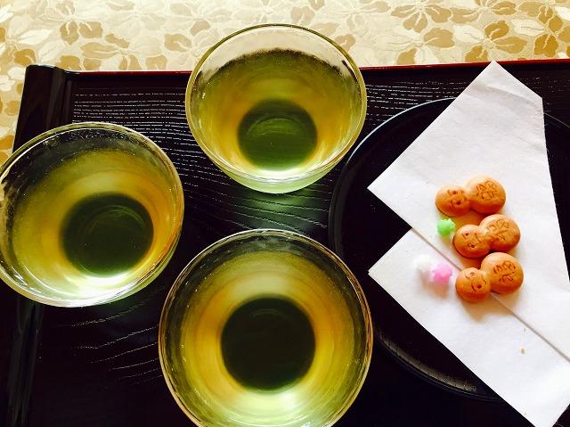 正寿院の宇治茶とそばぼうろ