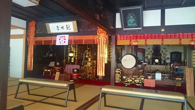 正寿院本堂の十一面観音菩薩と不動明王