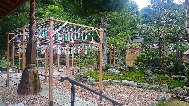 正寿院の庭と風鈴