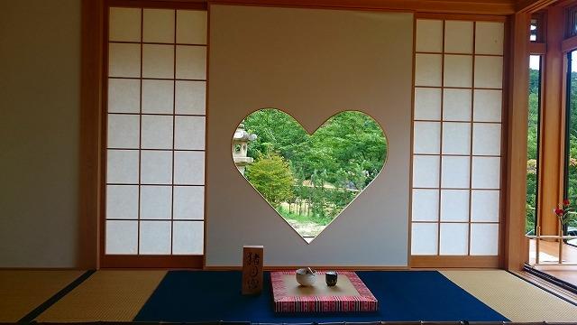 正寿院ハート型の猪目窓