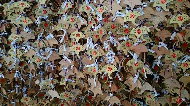 御金神社のイチョウの絵馬