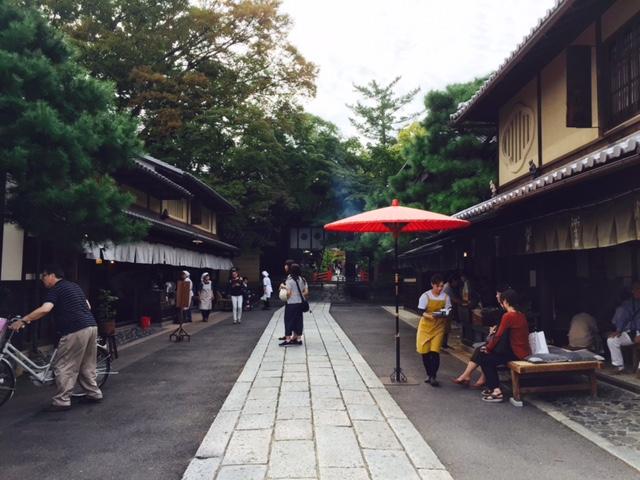 今宮神社参道のあぶり餅屋さん2軒
