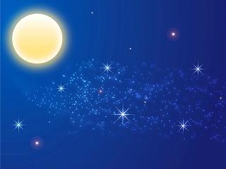 月花殿の片思い成就護符に月のパワー充電