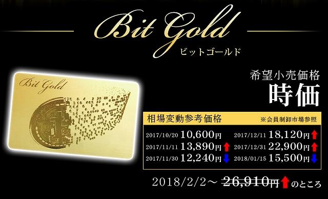 ビットゴールド(Bit Gold)の価格と最安値