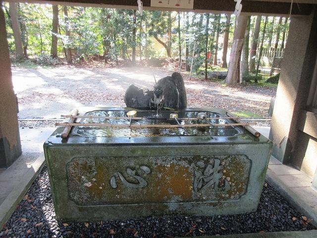 舟津神社の手水舎