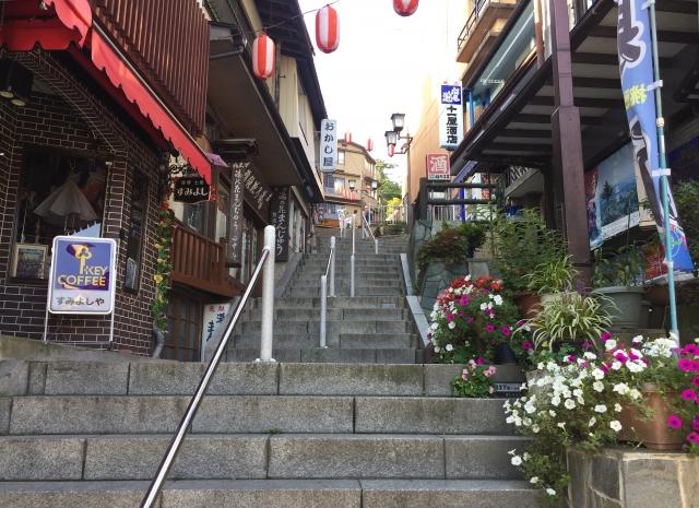 伊香保温泉の365段の石段