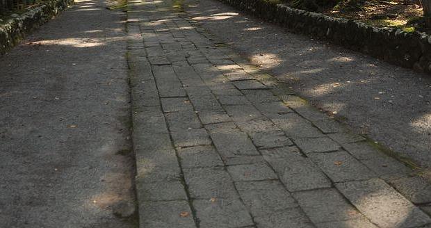 雲洞庵の石畳
