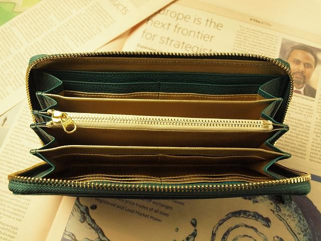 使いやすい緑の財布