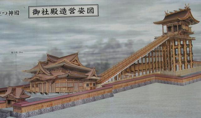 伊佐須美神社の神殿の絵
